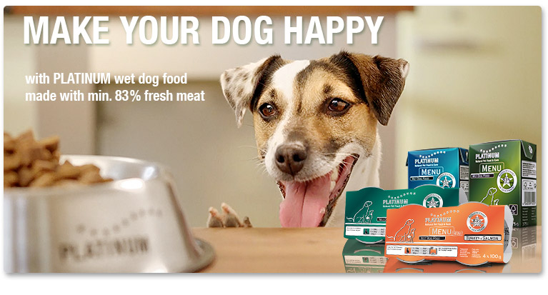 Our Products – PLATINUM wet dog food